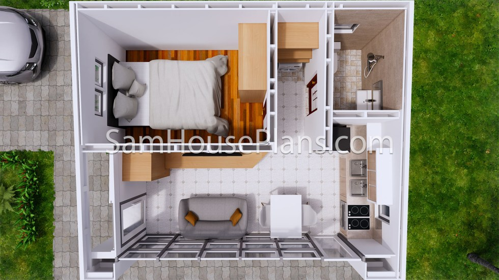 Tiny House Plans 5x6 Build From Steel Frame top 3d