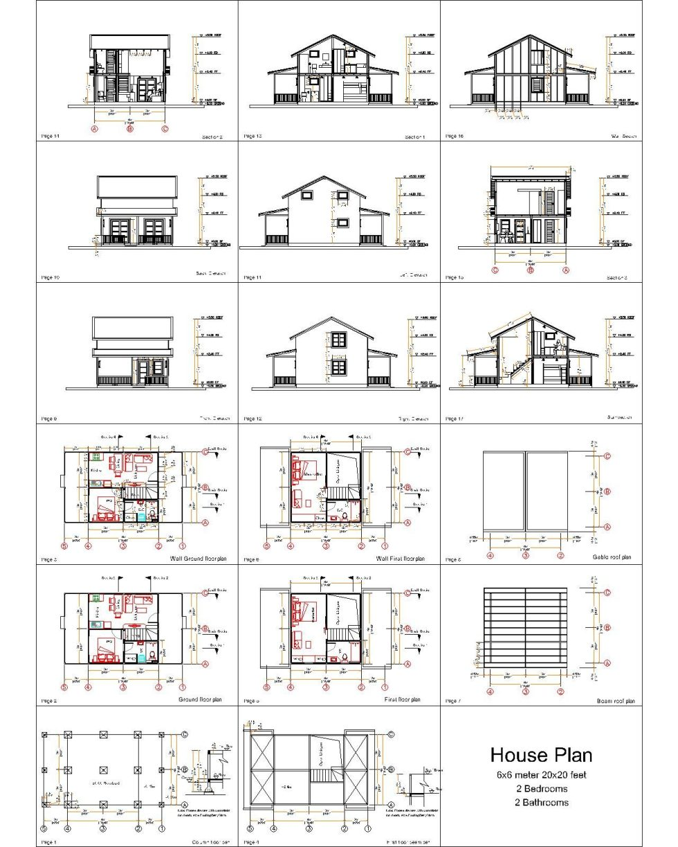 all small house plan 6x6