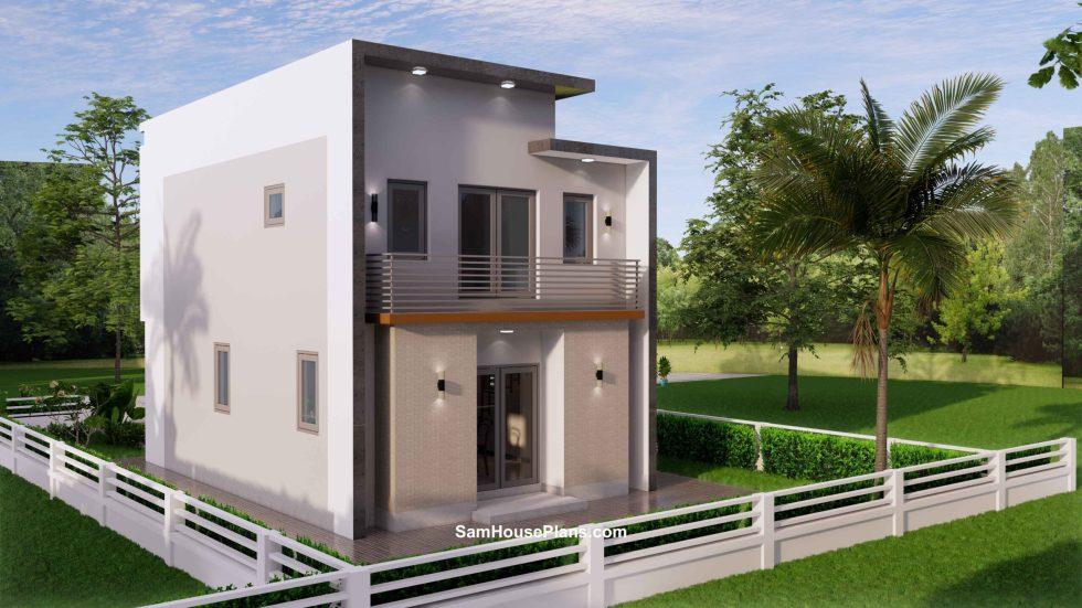 20x30 Small House Plan 6x8.5m PDF Full Plans Exterior 7