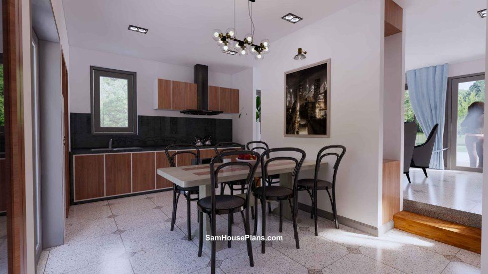 20x30 Small House Plan 6x8.5m PDF Full Plans Interior Dining room