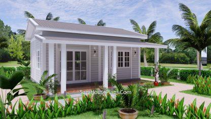 Granny Flat 7x5.2 Meter 1 Bedroom Gable Roof 2