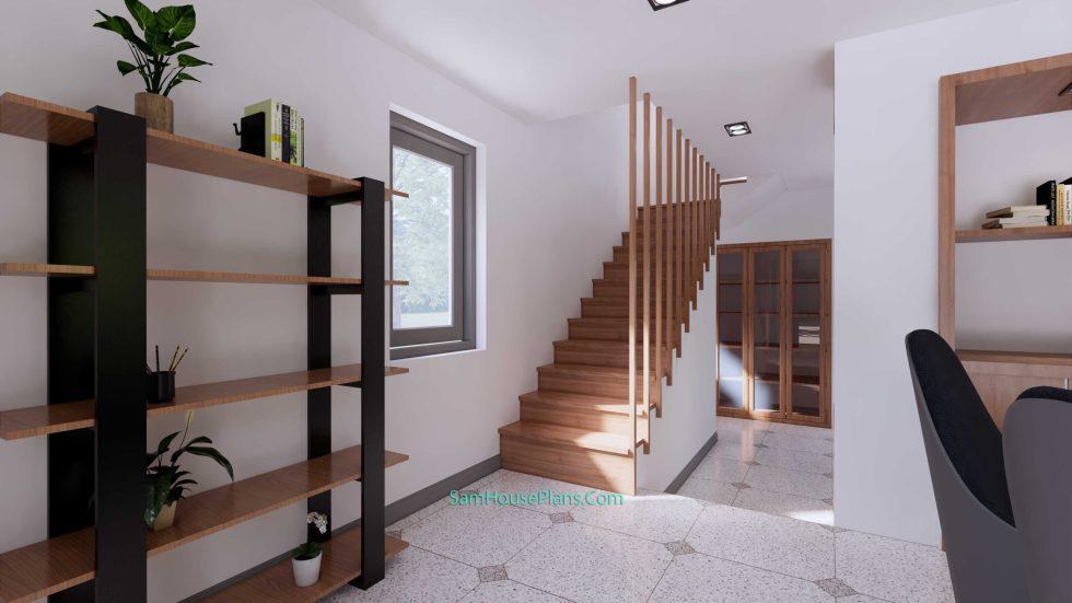 20x28 House Design Plan 6x8.5m PDF Full Plans Interior Stair