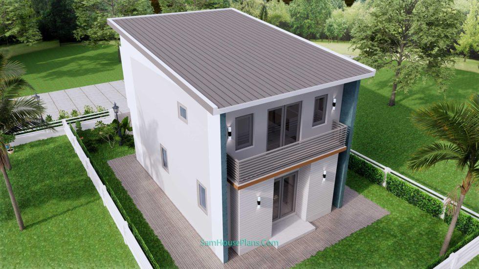 20x28 House Design Plan 6x8.5m PDF Full Plans9