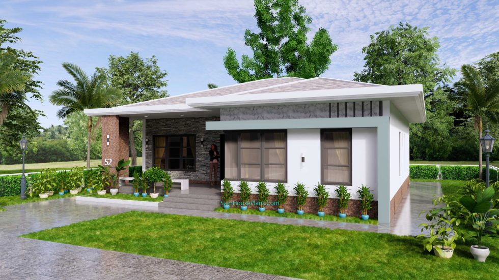 House Design Plans 12x12 Hip Roof 2 Bedrooms 3