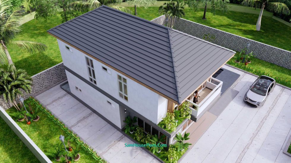 Small House Plans 4.5x10.8 meter 2 Beds PDF Full Plans 7