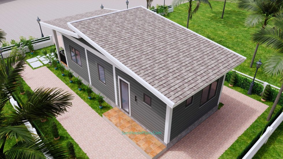 4.5x12 Small House Design 2 Bedrooms Shed Roof 9