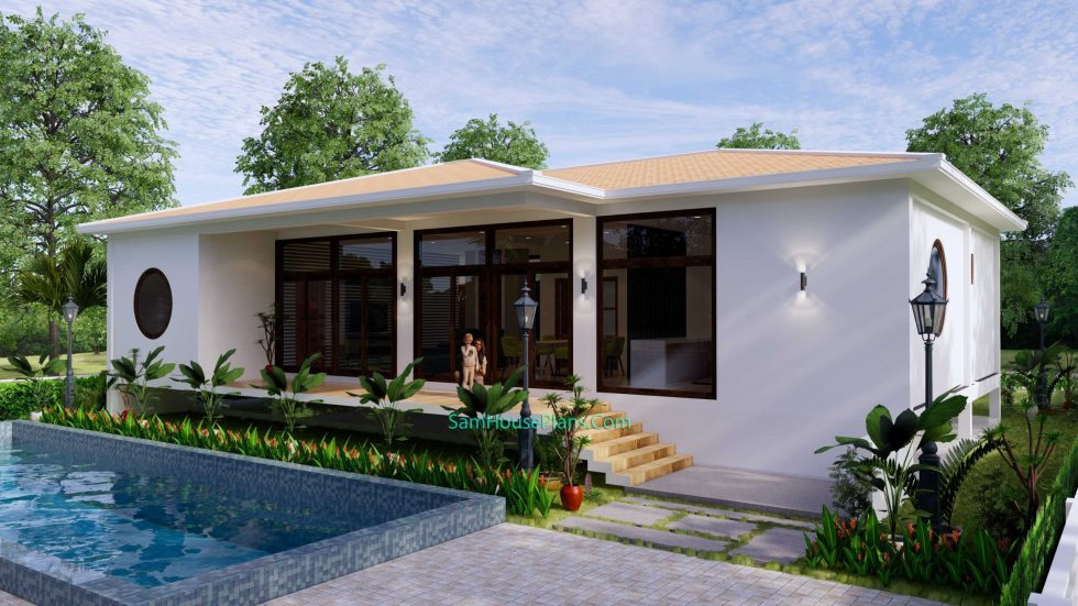 House Design Plan 17x13 with 3 Bedrooms 53x43 Feet 5