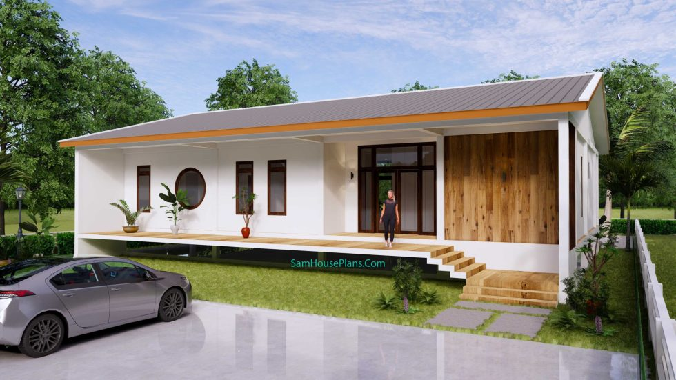 House plan 17x13 with 3 Bedrooms 01