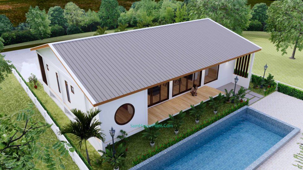 House Design 3D 17x13 Meters 221 sqm 3 Bedrooms