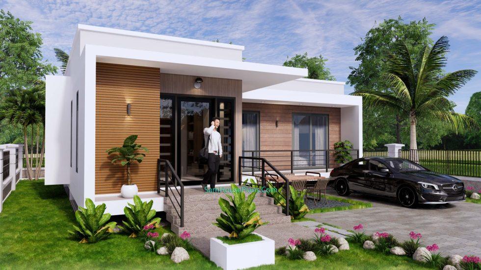 Modern House Plans 11x10.5 Flat Roof 4