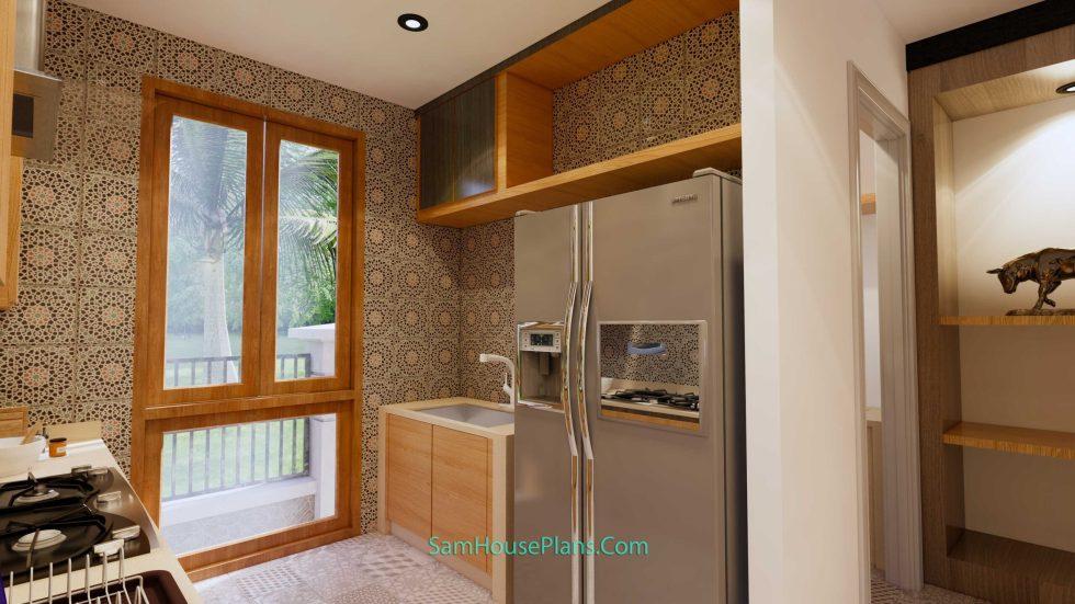 House Design Plans 11x11 meter 3 Bedrooms Interior Kitchen 2