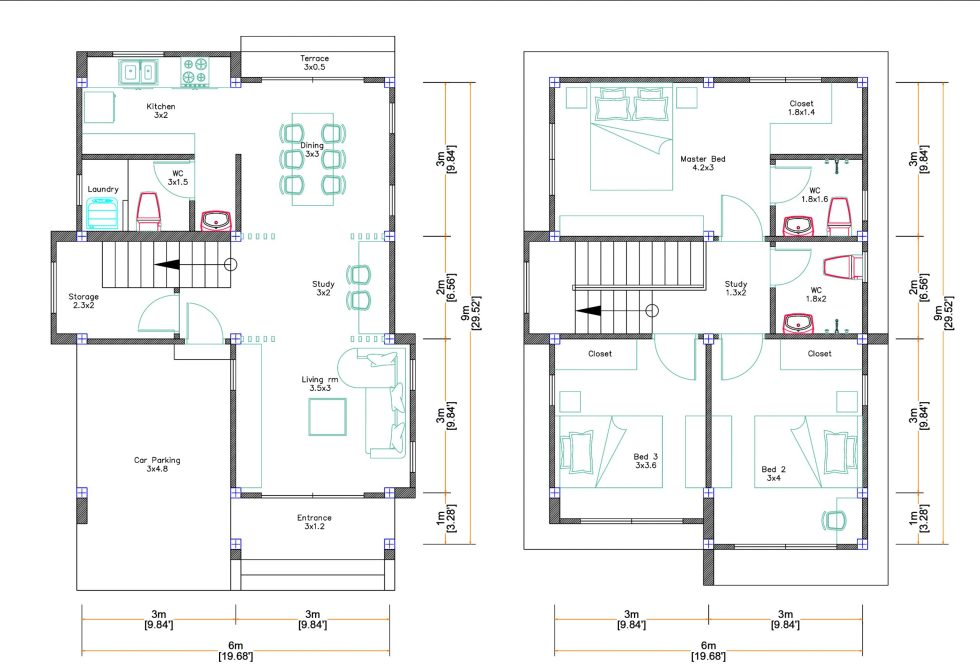 6x9 Free House Plans Download 3 Bedrooms Full Plans