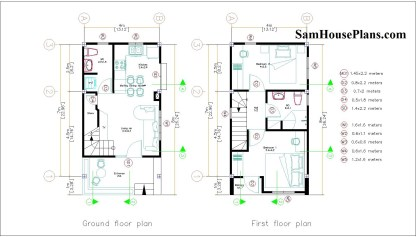 Layout plans 4x7 small house design
