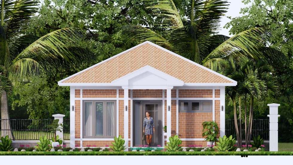 Small House Design 7x7M with One Beds Full Layout 12