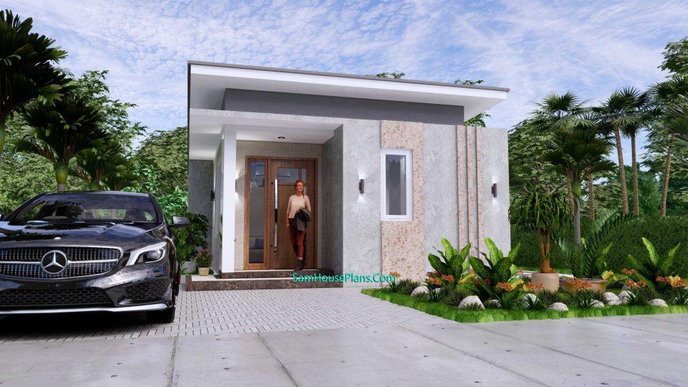 Small House Plan 4.5x9 Meter One Bedroom PDF Plan 01