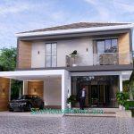 House Plans 9.5x11 Meter 3 Bedrooms Full PDF Plan Front 3d