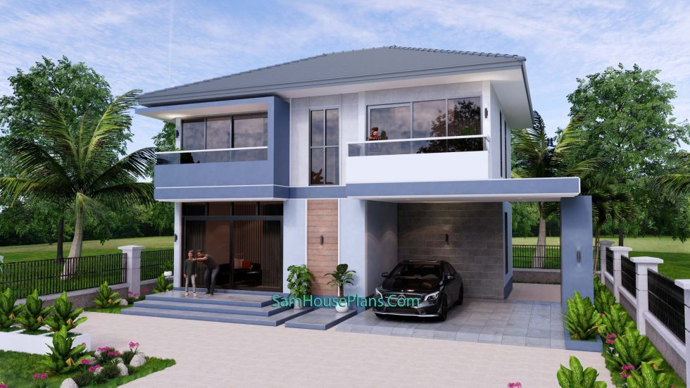 Small House Design 11.8x7.5 meters with 3 Beds Full PDF Plan 3