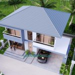 Small House Design 11.8x7.5 meters with 3 Beds Full PDF Plan 4