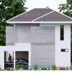 Small House Design 9x9.5 Meter 3 Bedrooms Full PDF Plan Elevation Right