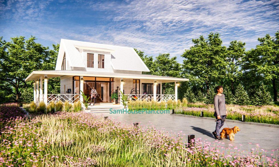 House Design Plan 14x9 Meter 46x30 Feet 3 Bedrooms Full PDF Plan 3d 2