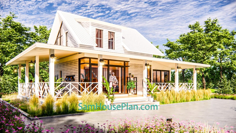 House Design Plan 14x9 Meter 46x30 Feet 3 Bedrooms Full PDF Plan 3d 4