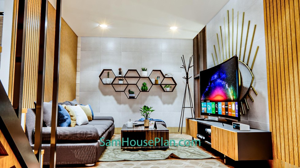 House Design Plan 14x9 Meter 46x30 Feet 3 Bedrooms Full PDF Plan 3d living