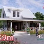 House Design Plan 14x9 Meter 46x30 Feet 3 Bedrooms Full PDF Plan