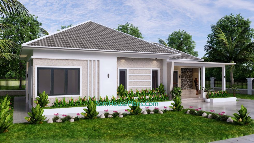 House Design Plan 15x9 M with 3 Beds PDF Full Plan 3d 3