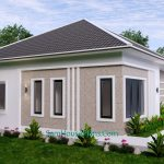 House Design Plan 15x9 M with 3 Beds PDF Full Plan 3d 4