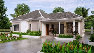 House Design Plan 15x9 M with 3 Beds PDF Full Plan Cover