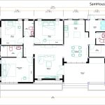 House plan 15x9 M with 3 bedrooms layout plan
