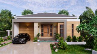 Modern House Plan 11x11 Meter 36x36 Feet 3 Beds PDF Plan 3d 2