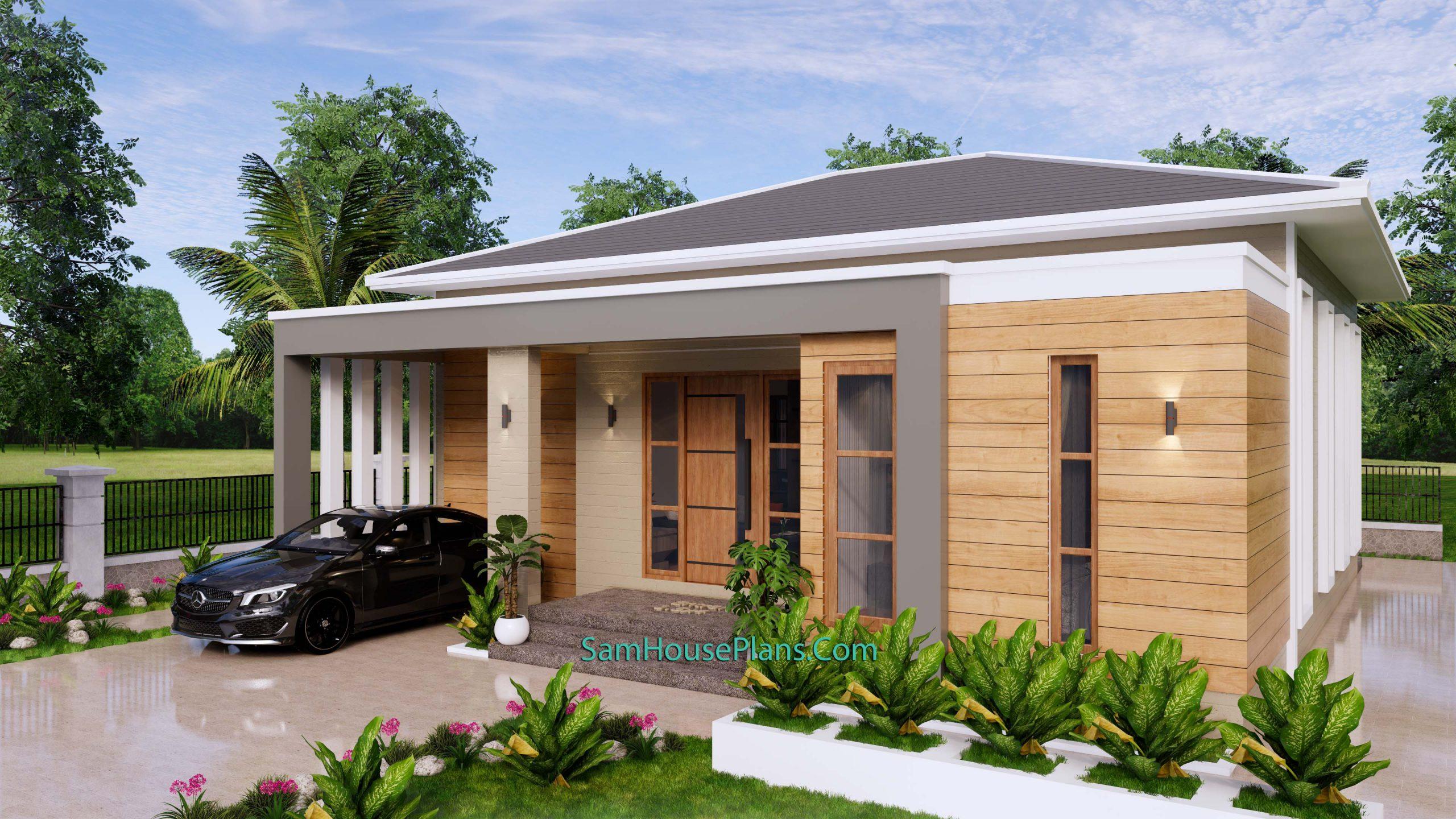 Modern House Plan 11x11 Meter 36x36 Feet 3 Beds PDF Plan 3d 3