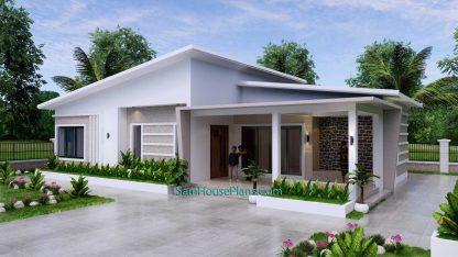Modern House Plan 15x9 M 49x30 Feet 3 Beds PDF Plan 3d 2