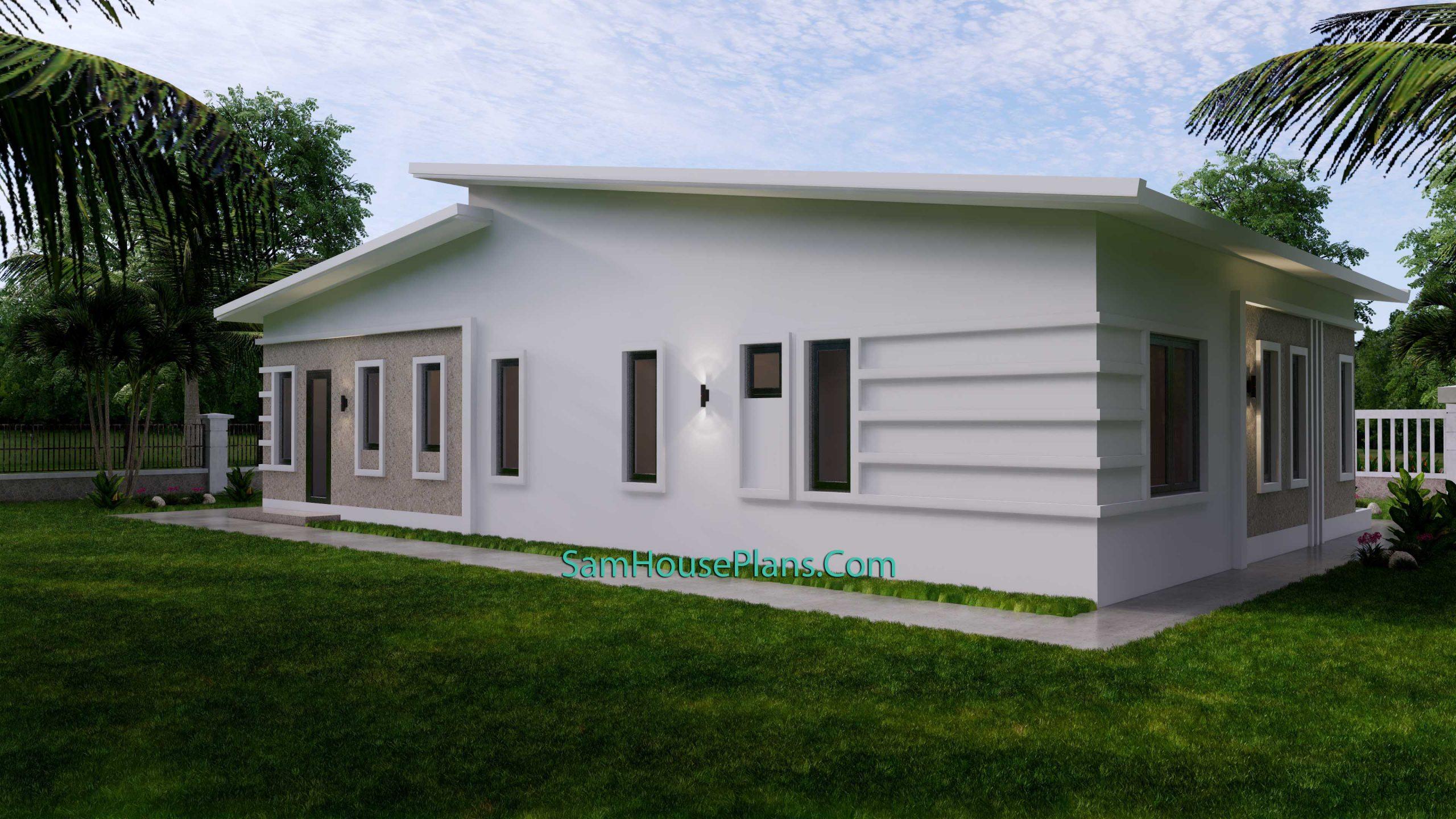 Modern House Plan 15x9 M 49x30 Feet 3 Beds PDF Plan 3d 6