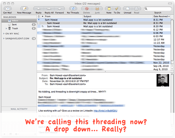 Mail App Rant + Is Apple Abandoning Its Core OSX Apps?