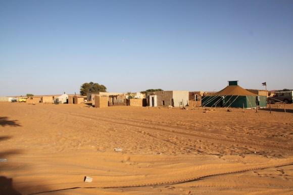 Homes of Sahrawi refugees in Dakhla.