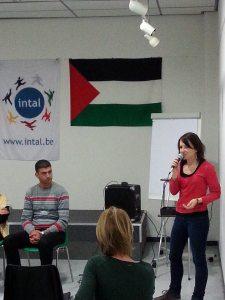 Daoud al-Ghoul speaks in Brussels at Intal, 18 November