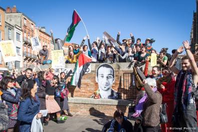 Photo: Toulouse protest to free Mohammed Abu Sakha