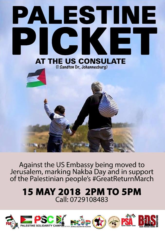 Johannesburg: Palestine Picket at the US Consulate