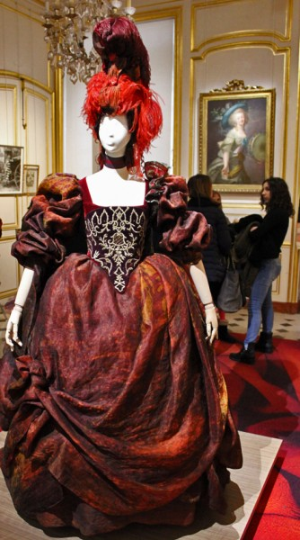 Christian Lacroix (1951) Stage costume from 2012 Behind:  Attributed to Marie- Louise Élisabeth Vigée Lebrun (1755 - 1842)