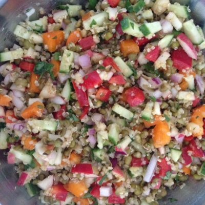 SUMMER'S FRESH Mung bean and Quinoa Salad