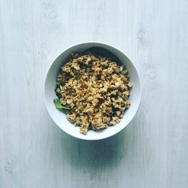 Cauliflower Rice Ground Meat