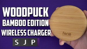 WoodPuck Bamboo Edition Qi Wireless Charger