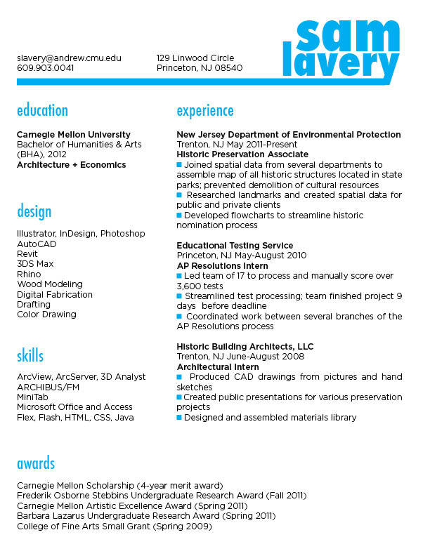 resume writing awards section