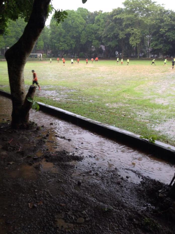 Wet football