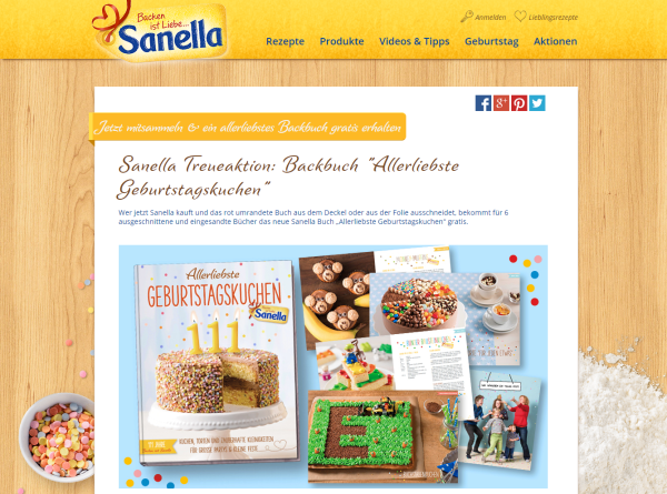 Backbuch Treueaktion Sanella
