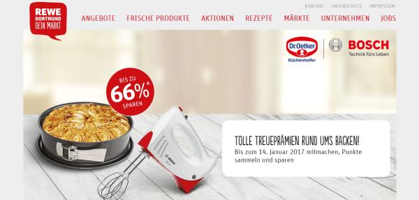 Rewe Dortmund Aktion Mit Küchenhelfern Von Bosch Droetker Die
