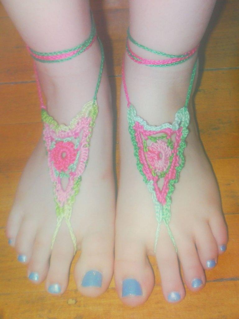 Crocheted Barefoot Sandals