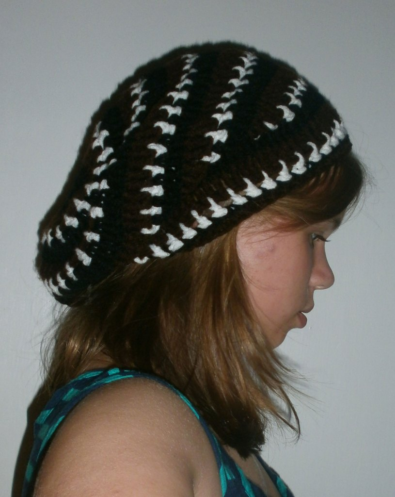 """Crocheted """"Spark"""" Slouchy Hat"""